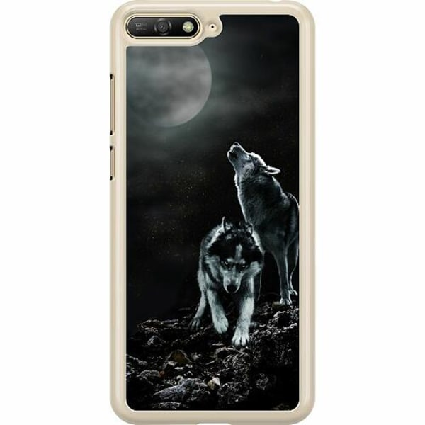 Huawei Y6 (2018) Hard Case (Transparent) Howling Wolves