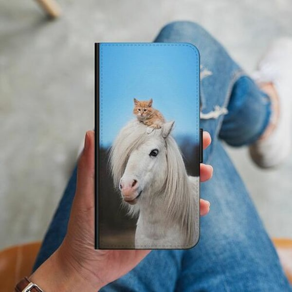 Samsung Galaxy A51 Plånboksskal Horse with CatHat