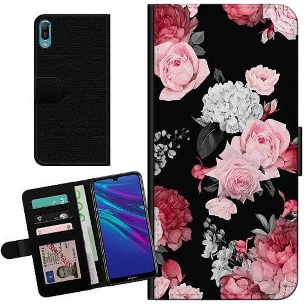 Huawei Y6 (2019) Billigt Fodral Floral Bloom