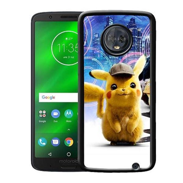 Motorola Moto G6 Plus Mobilskal Detective Pikachu - Pikachu
