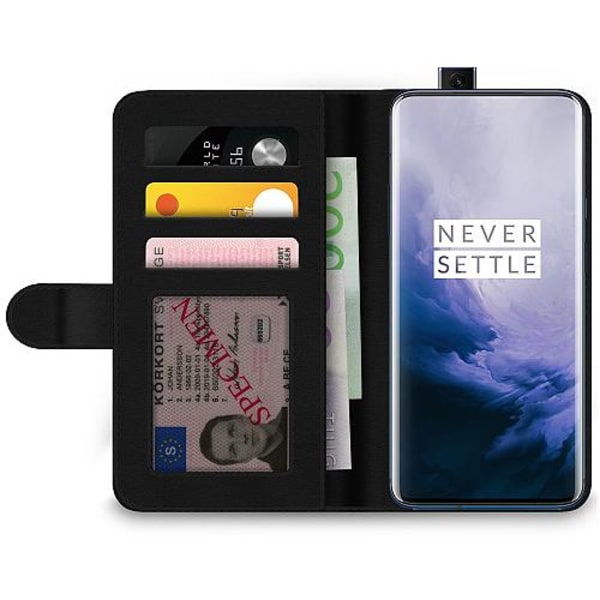 OnePlus 7 Pro Wallet Case Marmor Vit