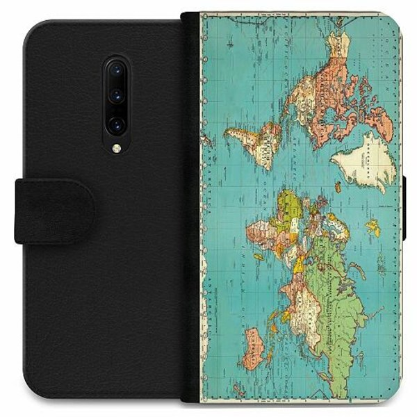 OnePlus 7 Pro Wallet Case World Map