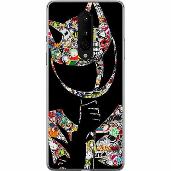 OnePlus 8 TPU Mobilskal Stickers