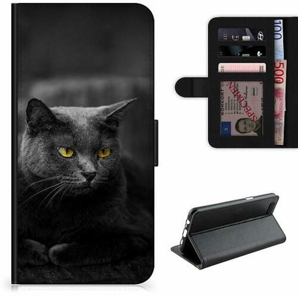 Samsung Galaxy A11 Lyxigt Fodral Black Cat