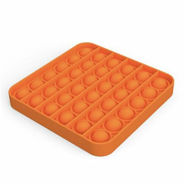 Pop it Fidget Sensorisk Leksak med Bubblor - Fyrkant Orange