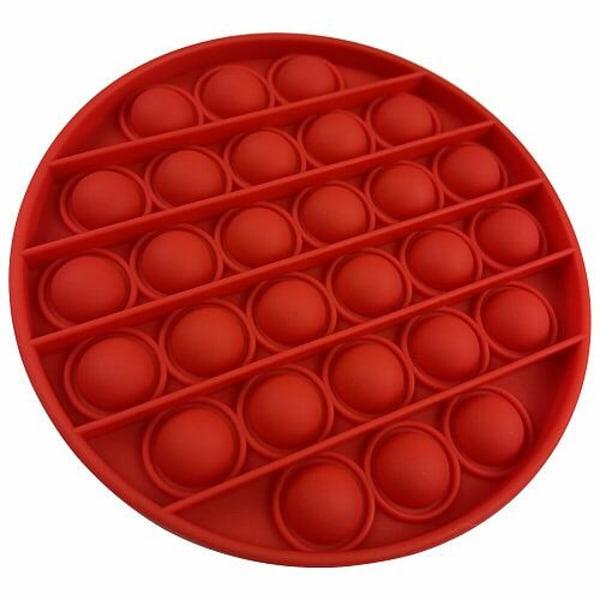 Pop it Fidget Sensorisk Leksak med Bubblor - Röd Rund