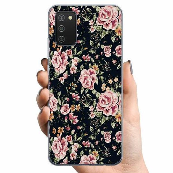 Samsung Galaxy A02s TPU Mobilskal Flowers