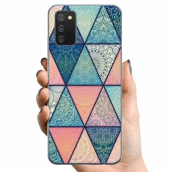 Samsung Galaxy A02s TPU Mobilskal Mandala triangles