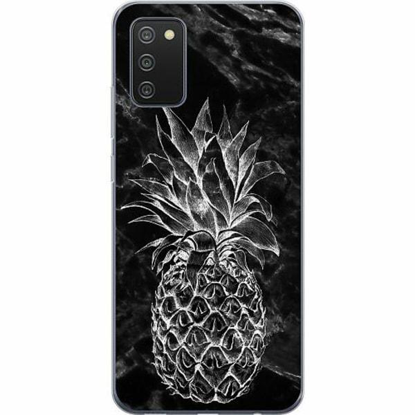 Samsung Galaxy A02s TPU Mobilskal Marmor Ananas