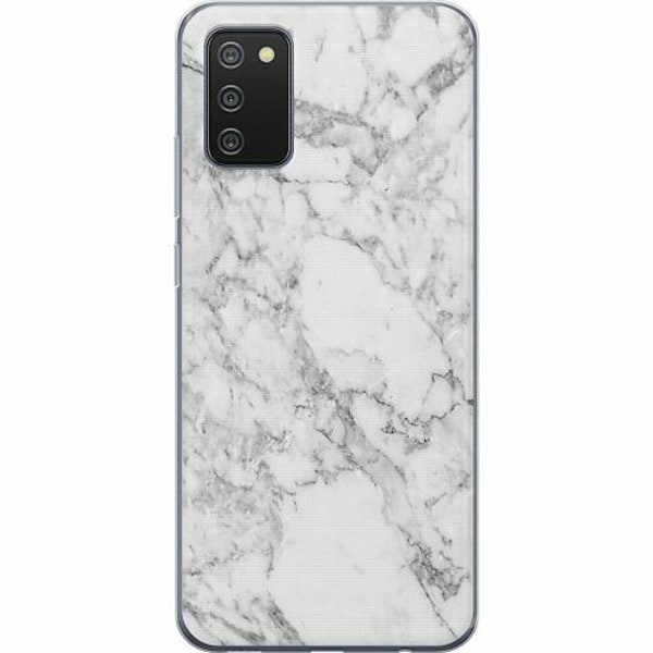 Samsung Galaxy A02s TPU Mobilskal Marmor Vit