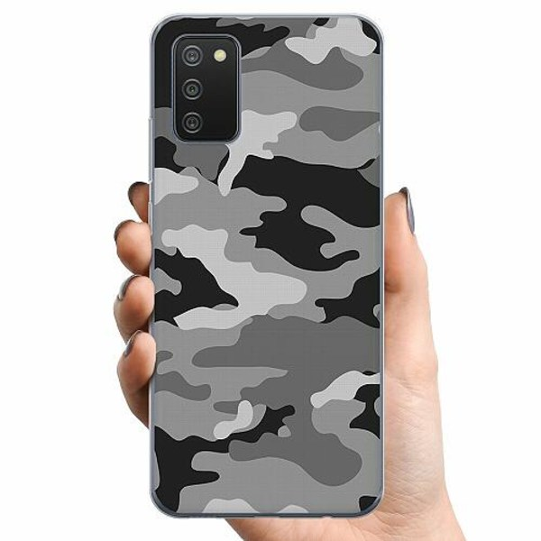 Samsung Galaxy A02s TPU Mobilskal Military B/W