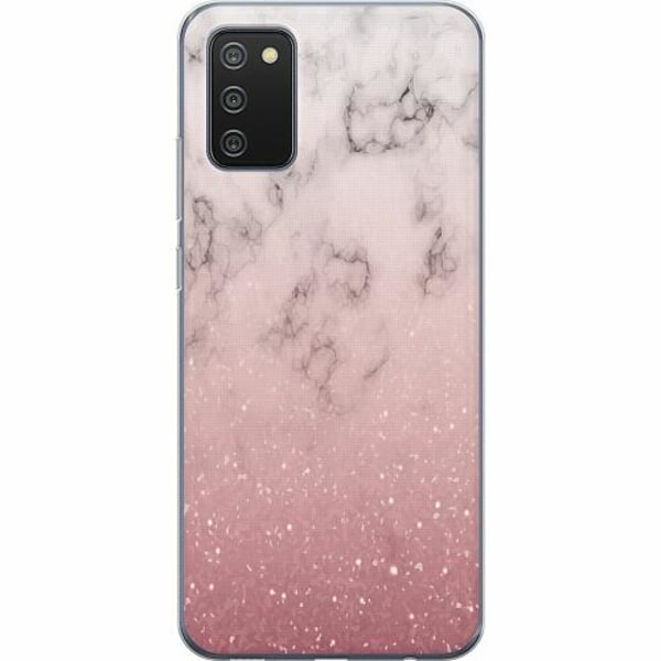 Samsung Galaxy A02s TPU Mobilskal Soft Pink Marble