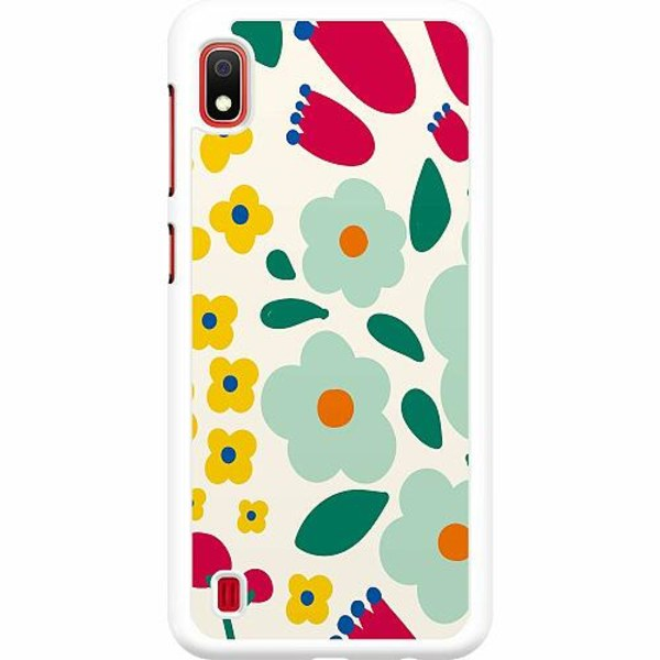 Samsung Galaxy A10 Hard Case (Vit) Baby Flowers