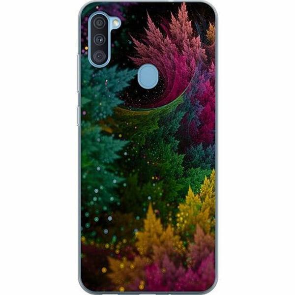 Samsung Galaxy A11 Thin Case Pixel Forest
