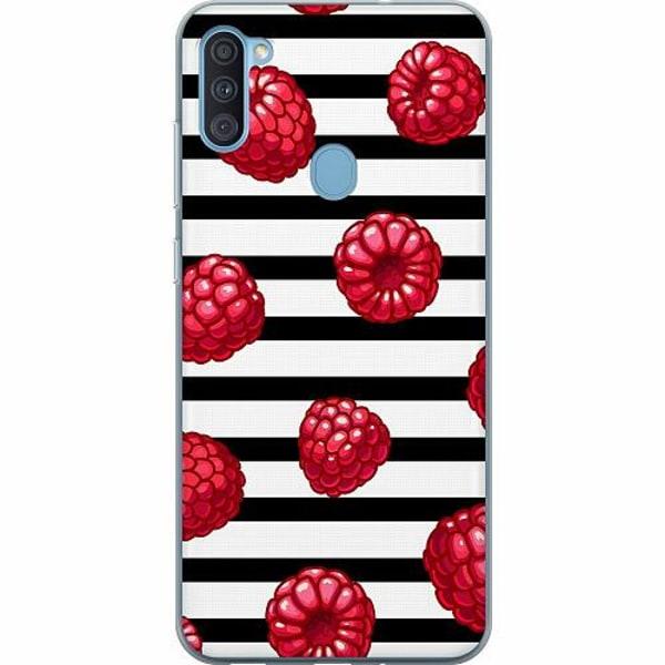Samsung Galaxy A11 Thin Case Raspberries
