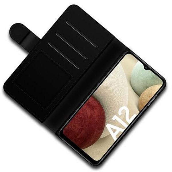 Samsung Galaxy A12 Lyxigt Fodral Blommor
