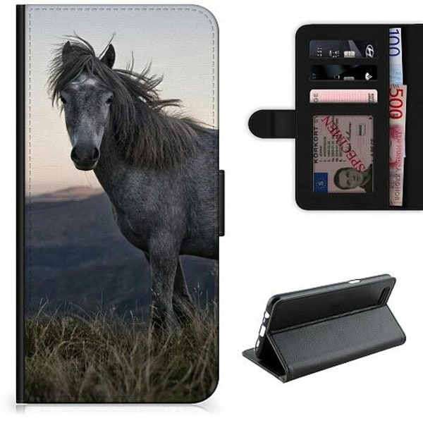 Samsung Galaxy A12 Lyxigt Fodral Häst / Horse
