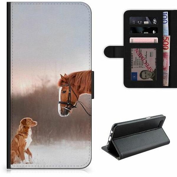 Samsung Galaxy A12 Lyxigt Fodral Häst & Hund