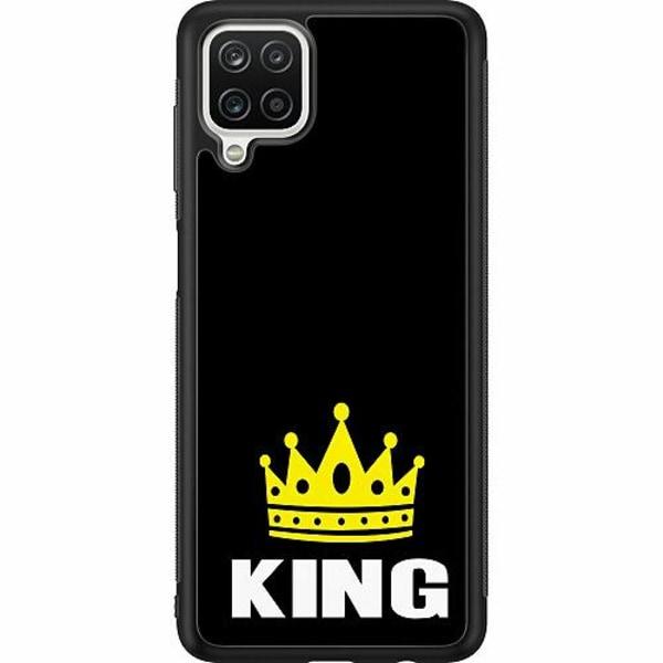 Samsung Galaxy A12 Soft Case (Svart) King 01
