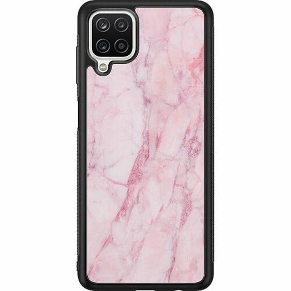 Samsung Galaxy A12 Soft Case (Svart) Marmor