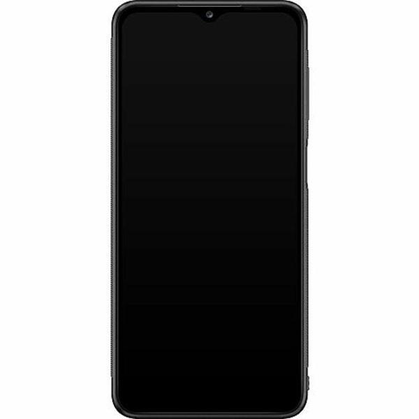 Samsung Galaxy A12 Soft Case (Svart) Text