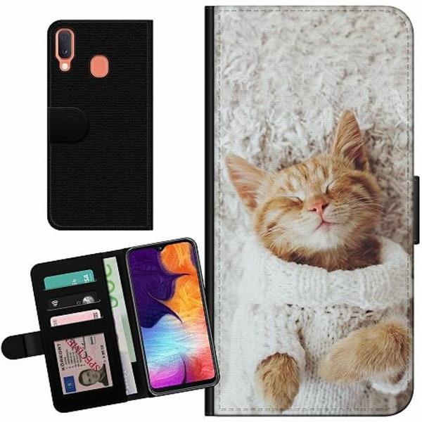 Samsung Galaxy A20e Billigt Fodral Kitty Sweater