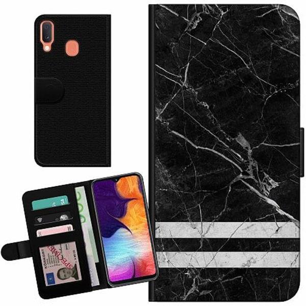 Samsung Galaxy A20e Billigt Fodral Marmor