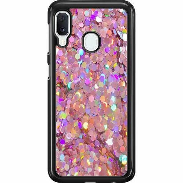 Samsung Galaxy A20e Hard Case (Svart) Glitter