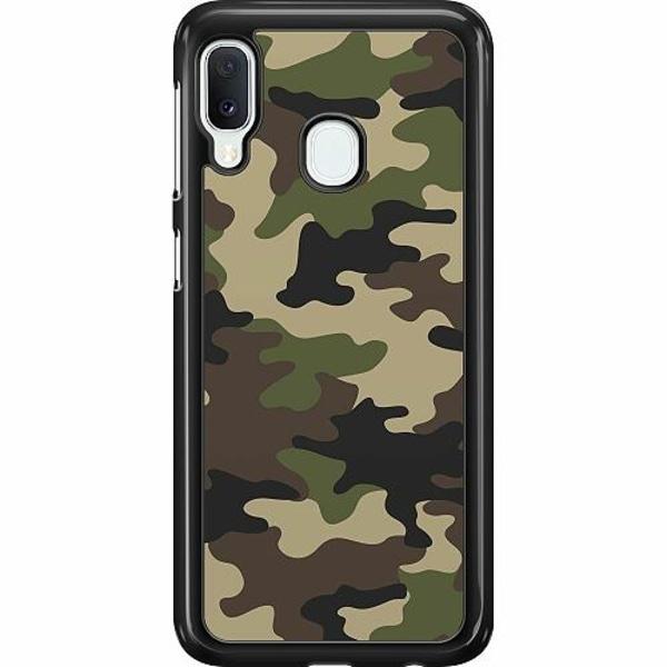 Samsung Galaxy A20e Hard Case (Svart) Woodland Camo