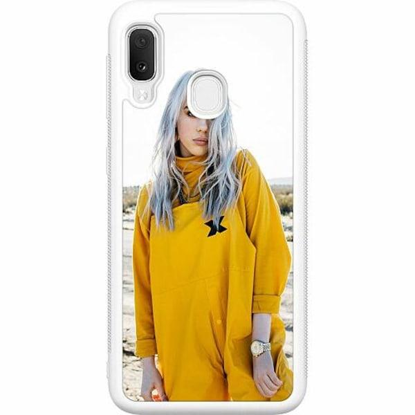 Samsung Galaxy A20e Soft Case (Vit) Billie Eilish 2021