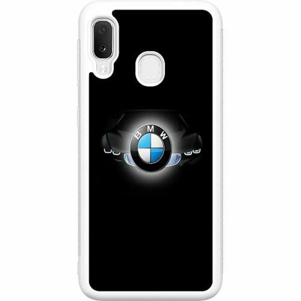 Samsung Galaxy A20e Soft Case (Vit) BMW