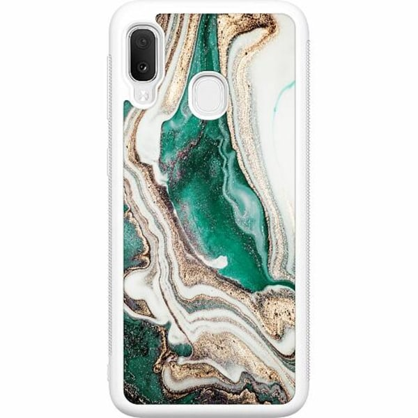 Samsung Galaxy A20e Soft Case (Vit) Grön