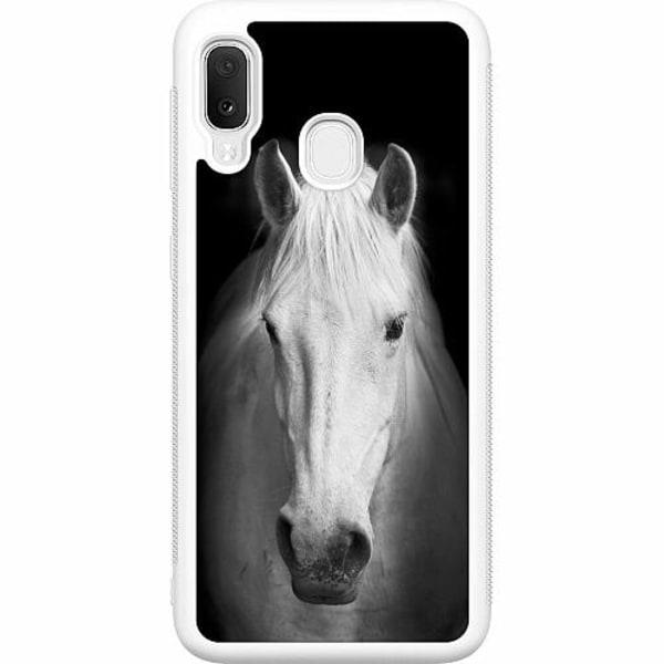 Samsung Galaxy A20e Soft Case (Vit) Häst