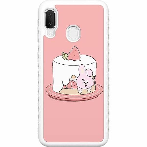Samsung Galaxy A20e Soft Case (Vit) Kawaii