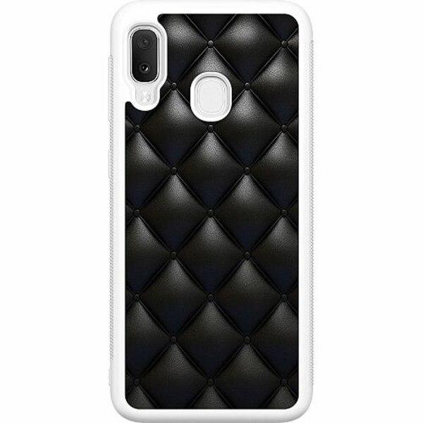 Samsung Galaxy A20e Soft Case (Vit) Leather Black