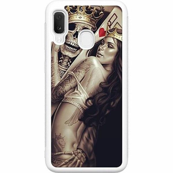 Samsung Galaxy A20e Soft Case (Vit) Let's Play...