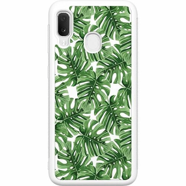 Samsung Galaxy A20e Soft Case (Vit) Löv