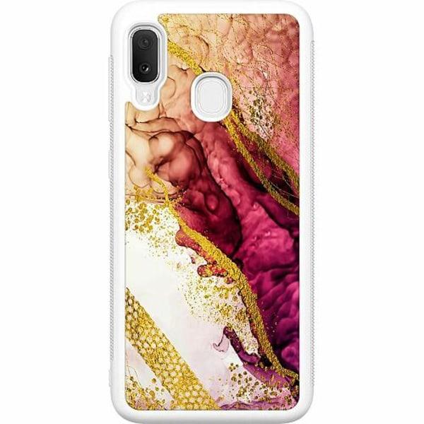 Samsung Galaxy A20e Soft Case (Vit) Magenta