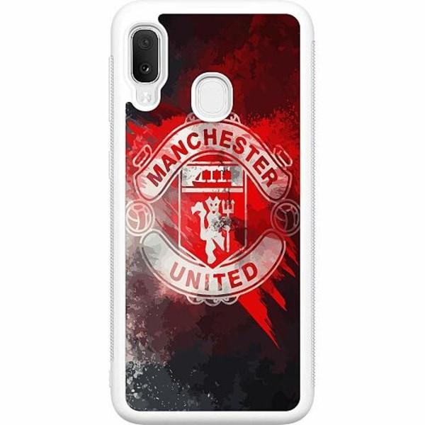 Samsung Galaxy A20e Soft Case (Vit) Manchester United FC