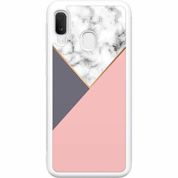 Samsung Galaxy A20e Soft Case (Vit) Marble Cut