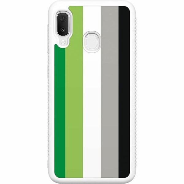 Samsung Galaxy A20e Soft Case (Vit) Pride - Aromantic
