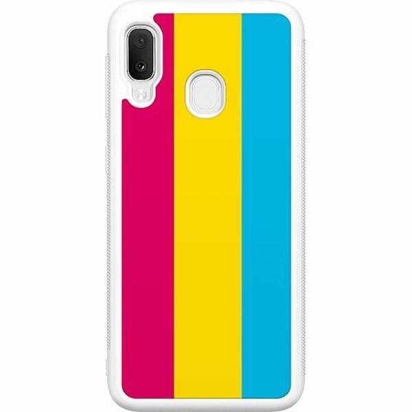 Samsung Galaxy A20e Soft Case (Vit) Pride - Pansexual
