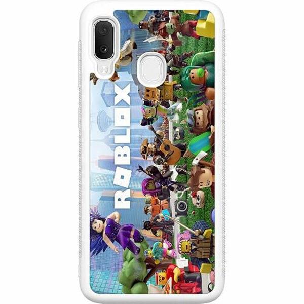 Samsung Galaxy A20e Soft Case (Vit) Roblox