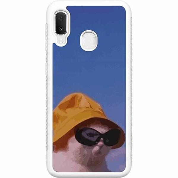 Samsung Galaxy A20e Soft Case (Vit) Say What, Cat