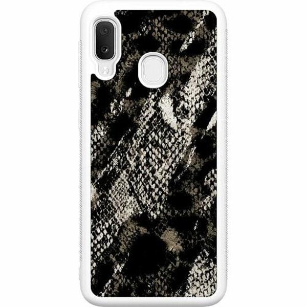 Samsung Galaxy A20e Soft Case (Vit) Snakeskin G