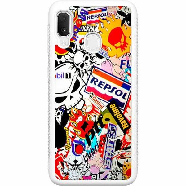 Samsung Galaxy A20e Soft Case (Vit) Stickers