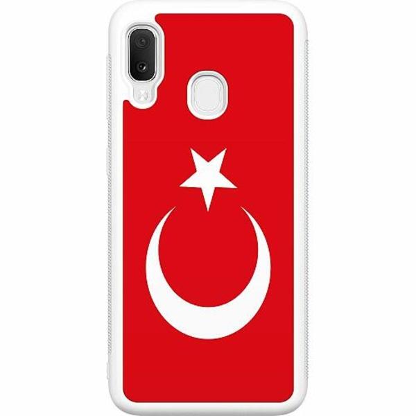 Samsung Galaxy A20e Soft Case (Vit) Turkiet