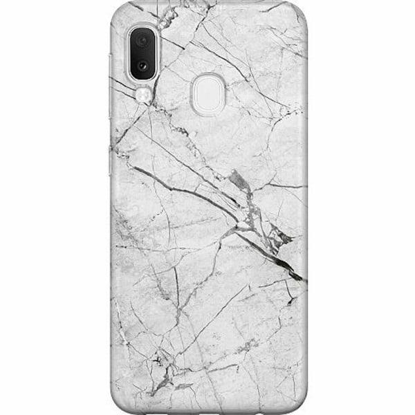 Samsung Galaxy A20e Thin Case Marmor Vit