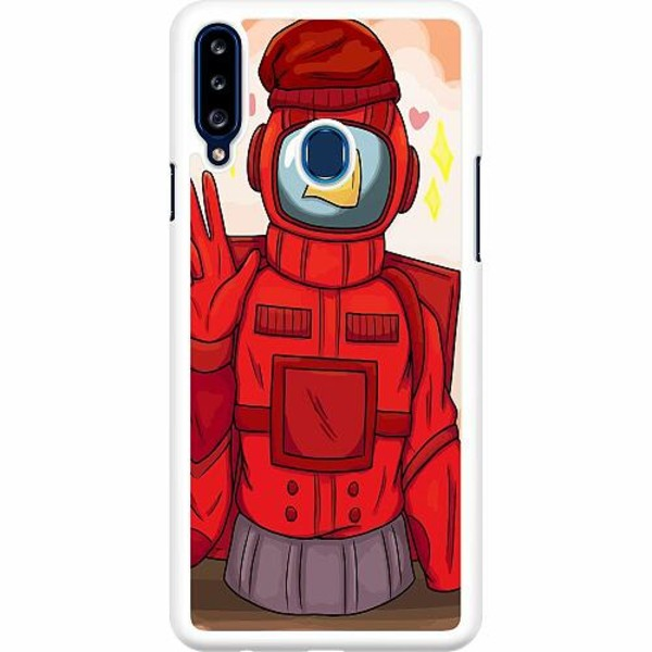 Samsung Galaxy A20s Hard Case (Vit) Among Us 2021