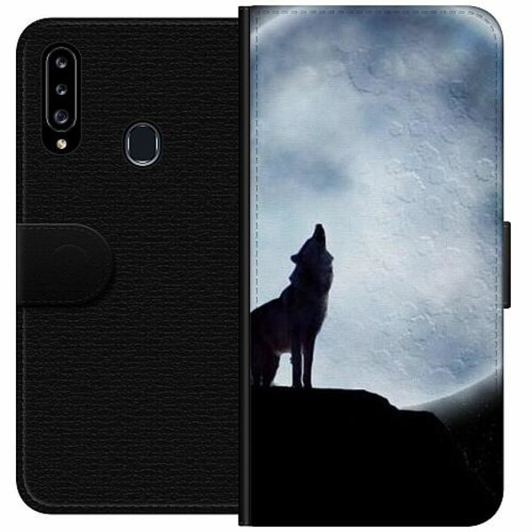 Samsung Galaxy A20s Wallet Case Wolf / Varg